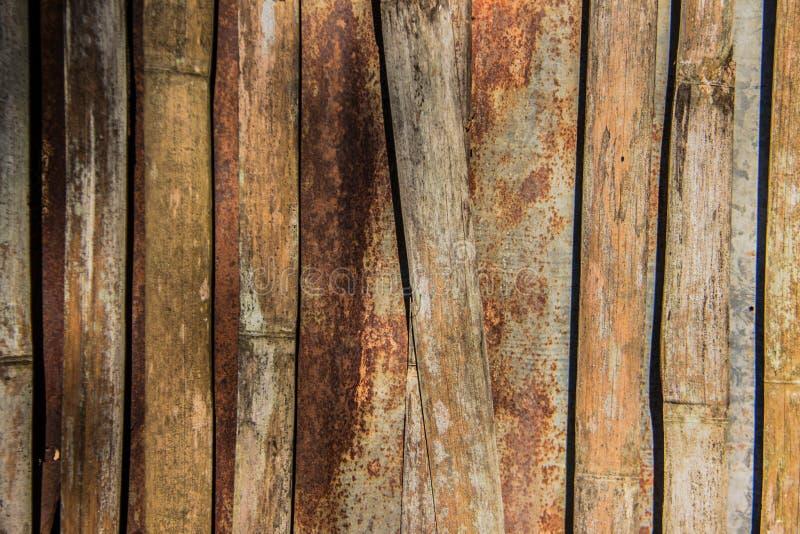 锌和竹子 免版税库存照片