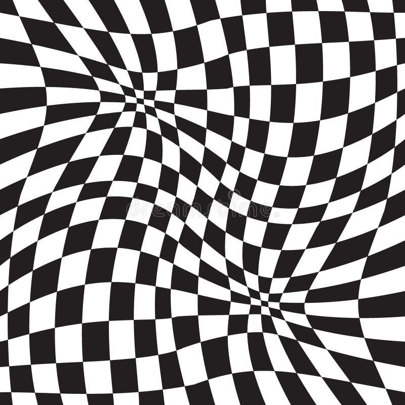 错觉几何背景 免版税库存照片