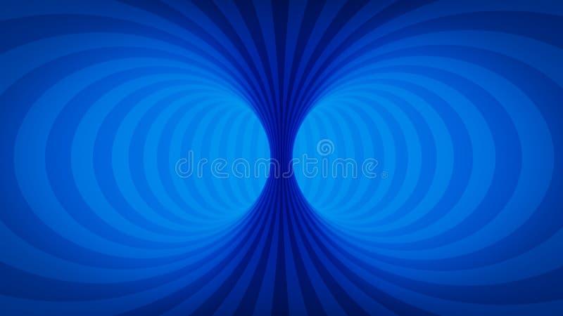 错觉蓝色隧道 库存例证