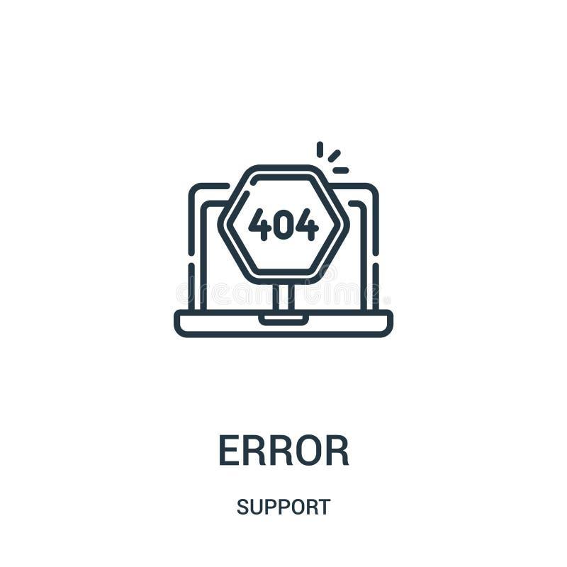 错误从支持汇集的象传染媒介 稀薄的行误差概述象传染媒介例证 线性标志为在网的使用和 皇族释放例证