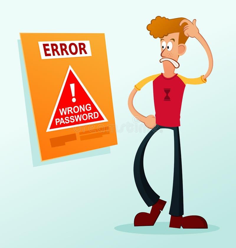 错误信息 向量例证