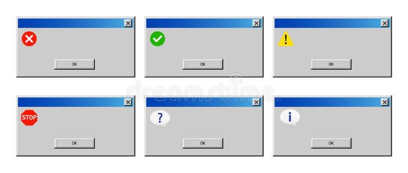 错误戒备老对话窗口  向量例证