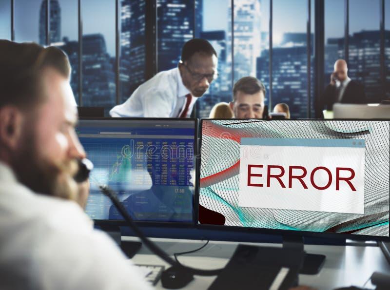 错误断开警告失败不正常结尾概念 图库摄影