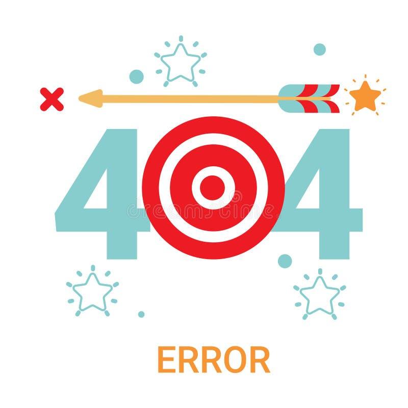 错误象404没被找到的打破的消息横幅 库存例证