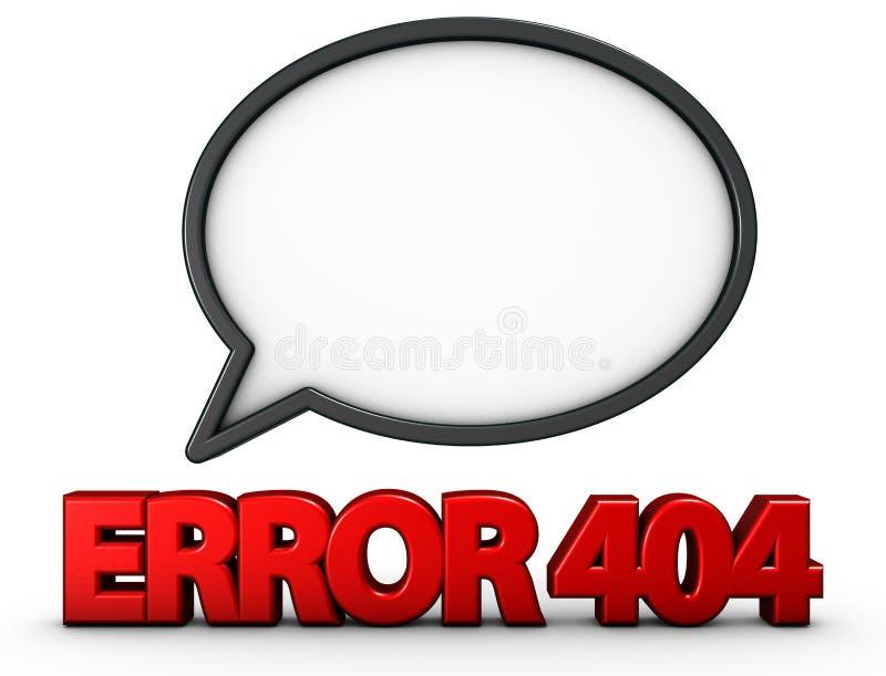 404错误 库存例证