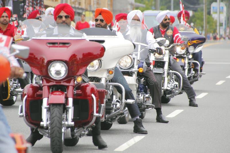 锡克教徒的公共庆祝加拿大日 库存图片