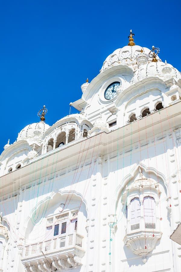 锡克教徒的gurdwara金黄寺庙(Harmandir Sahib)。阿姆利则,旁遮普邦,印度 库存照片