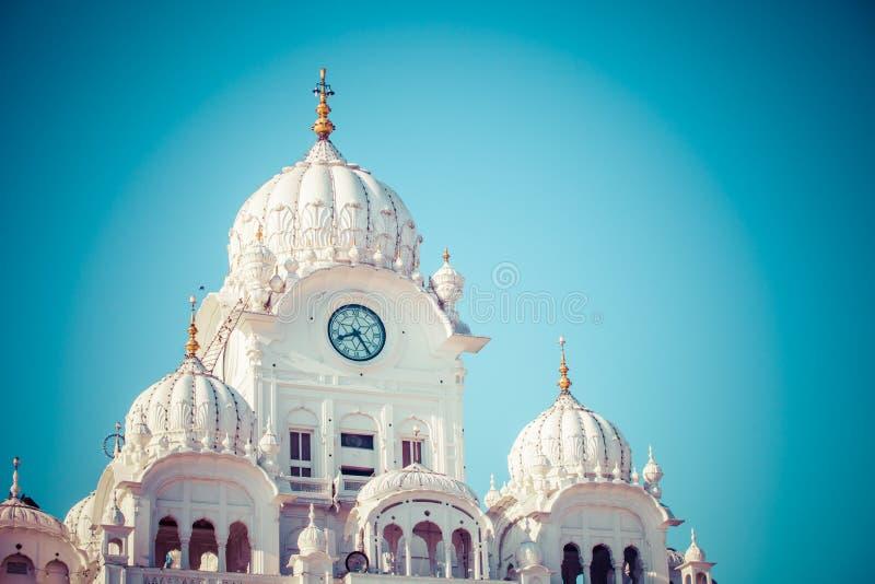 锡克教徒的gurdwara金黄寺庙(Harmandir Sahib)。阿姆利则,旁遮普邦,印度 免版税库存照片