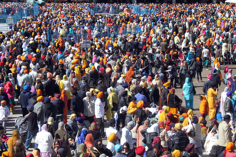 锡克教徒的Khalsa天游行 免版税库存照片