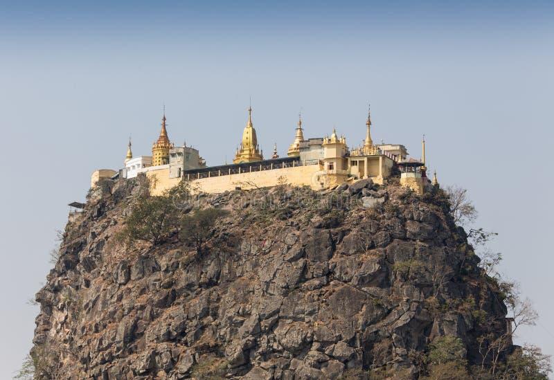 锡吉里耶狮子岩石堡垒和风景在斯里兰卡 免版税库存图片