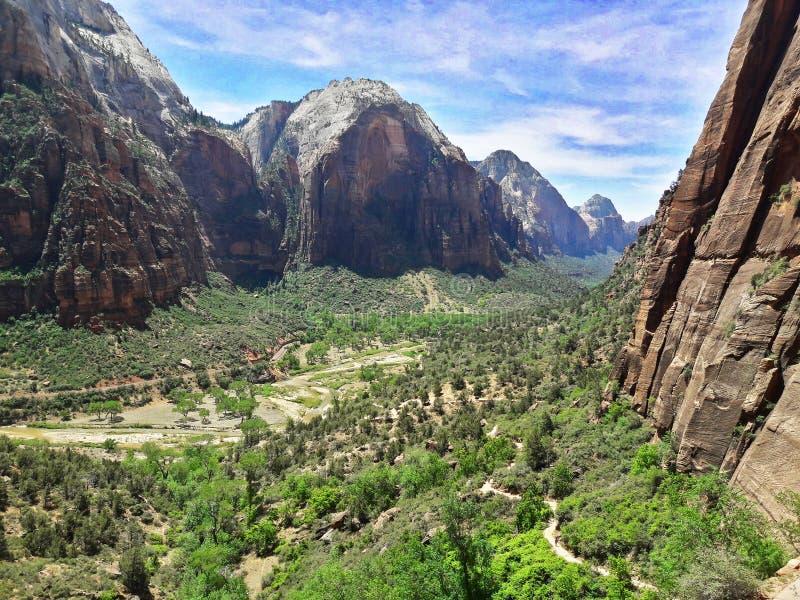 锡安国立公园,犹他美国 免版税库存图片