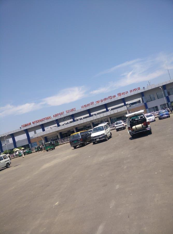 锡尔赫特市机场 库存图片