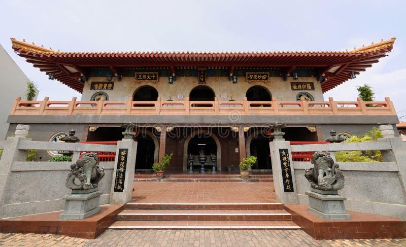 锡昂队林Si寺庙在Melaka 马来西亚 库存照片
