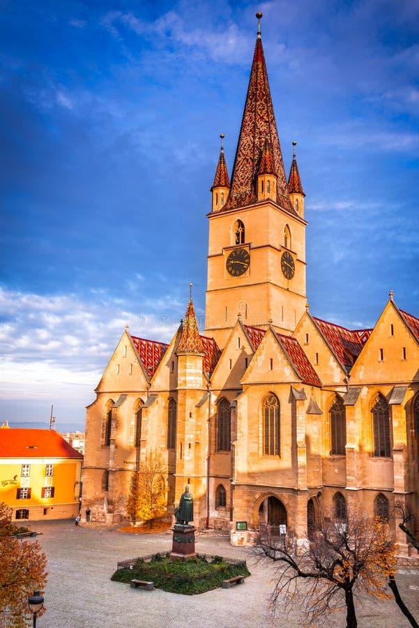 锡比乌,特兰西瓦尼亚,罗马尼亚 库存图片