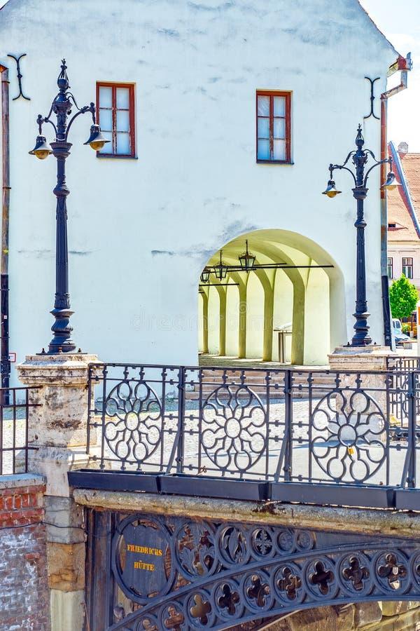 锡比乌,罗马尼亚特兰西瓦尼亚 免版税库存图片