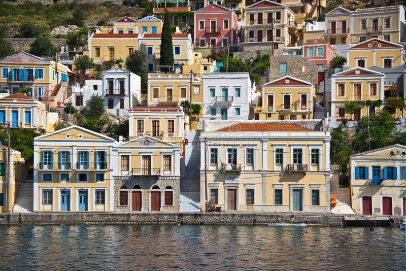 锡米岛,十二群岛海岛,希腊 免版税库存照片