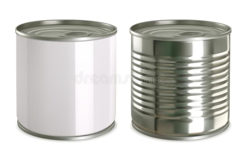 锡罐嘲笑 3d传染媒介象集合 皇族释放例证
