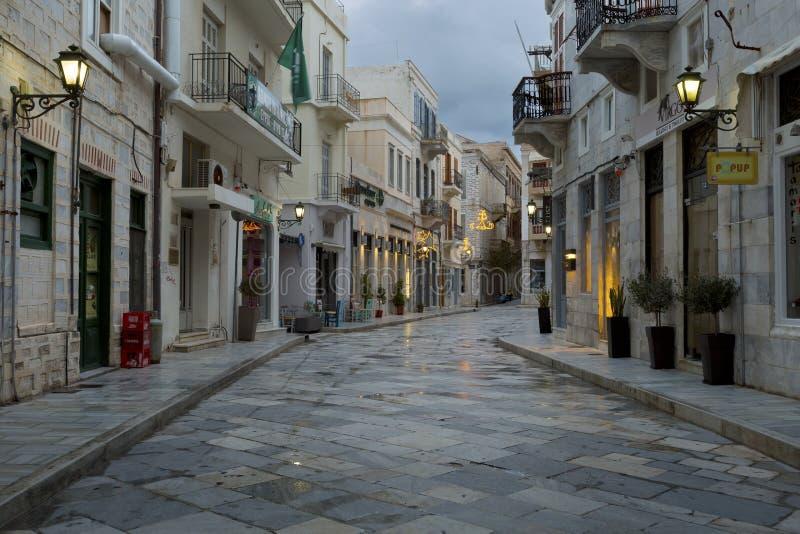 锡罗斯岛 免版税库存图片