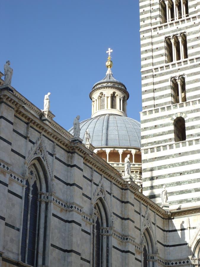 锡耶纳大教堂的圆顶  库存照片