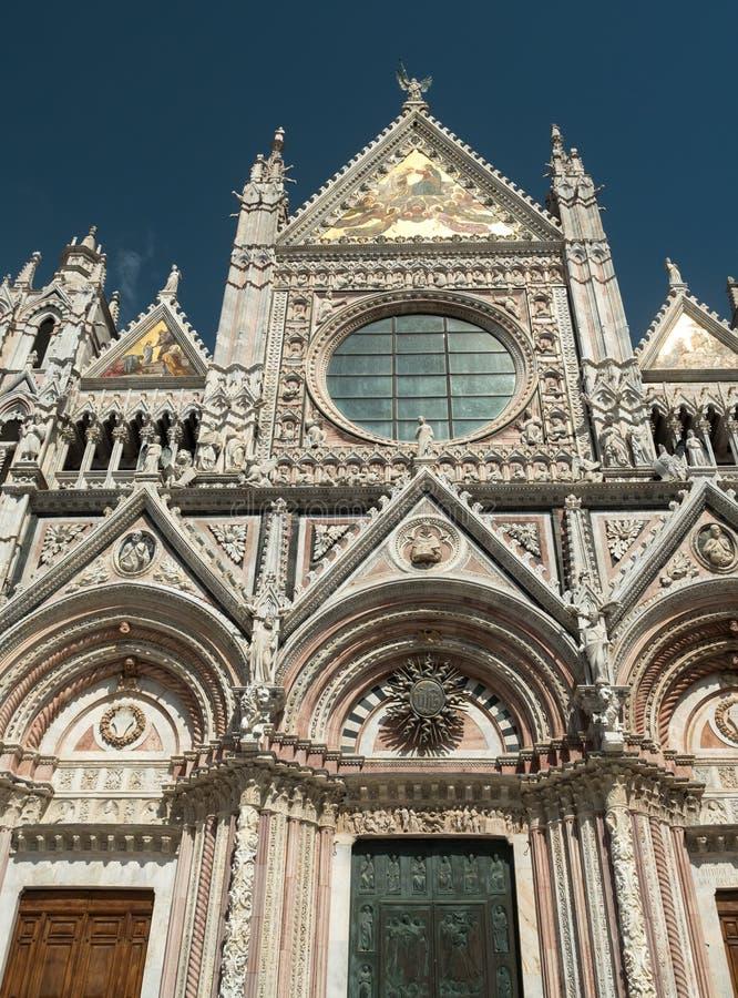 锡耶纳大教堂西部门面  库存照片