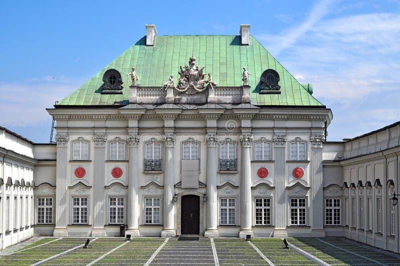 锡被顶房顶的宫殿,华沙 免版税库存图片