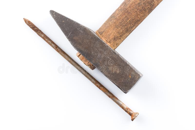 锤子固定老 免版税库存图片