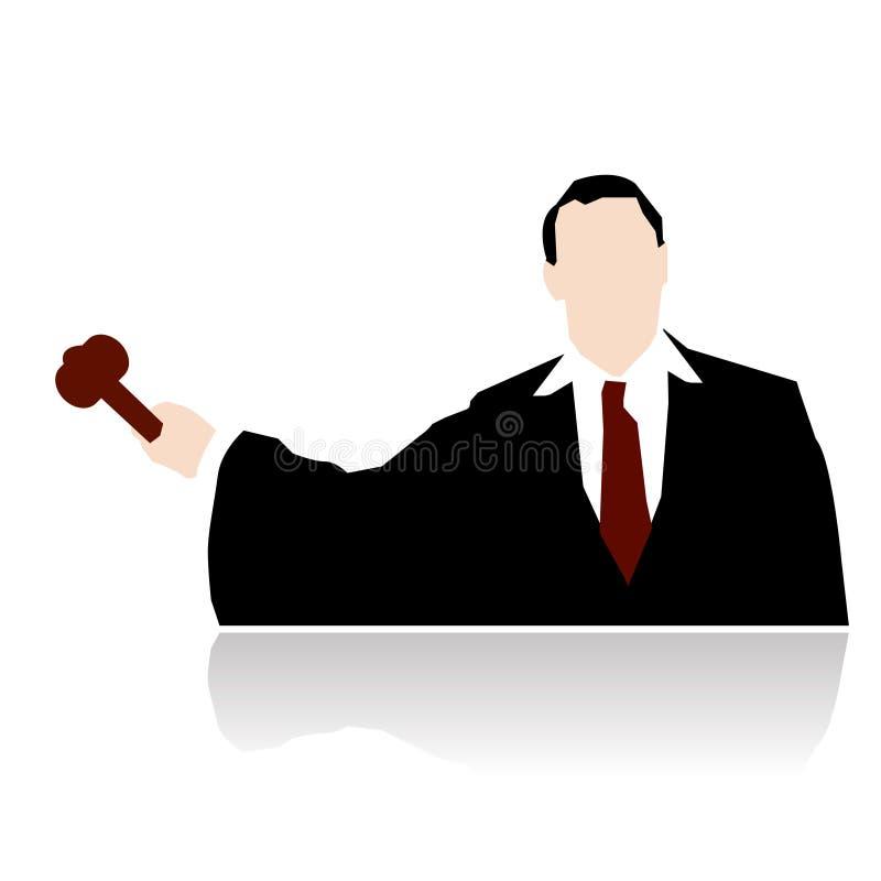锤子法官风格化向量 向量例证