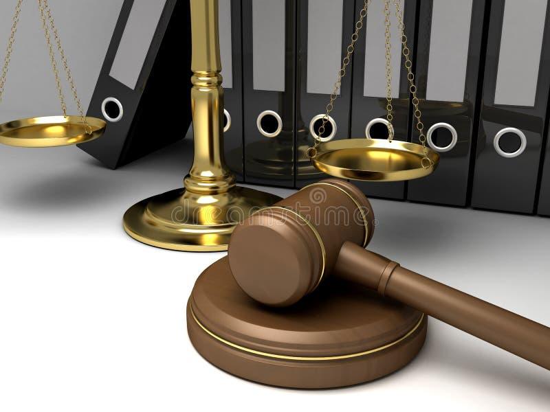锤子法律 皇族释放例证