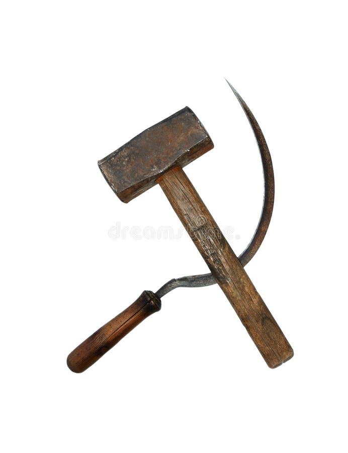 锤子镰刀 免版税图库摄影