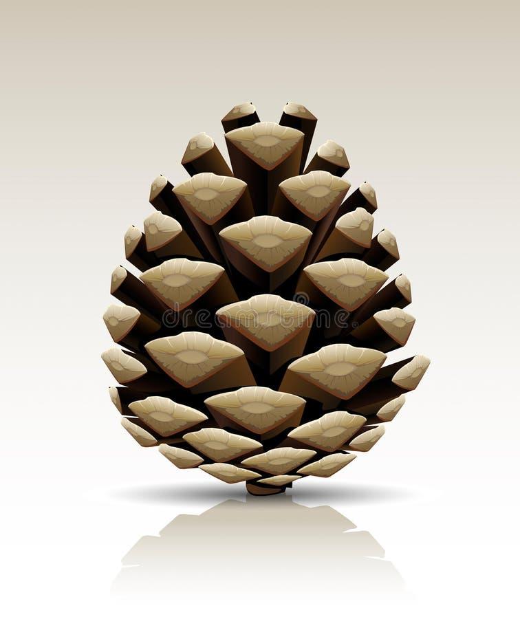锥体查出的杉木向量 皇族释放例证