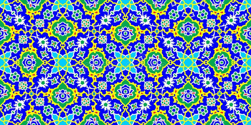 锦砖样式,伊斯兰教的主题 向量例证