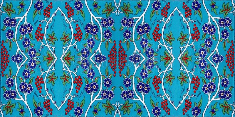 锦砖样式,伊斯兰教的主题 库存照片