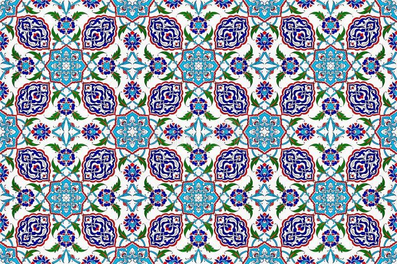 锦砖样式,伊斯兰教的主题 免版税库存图片