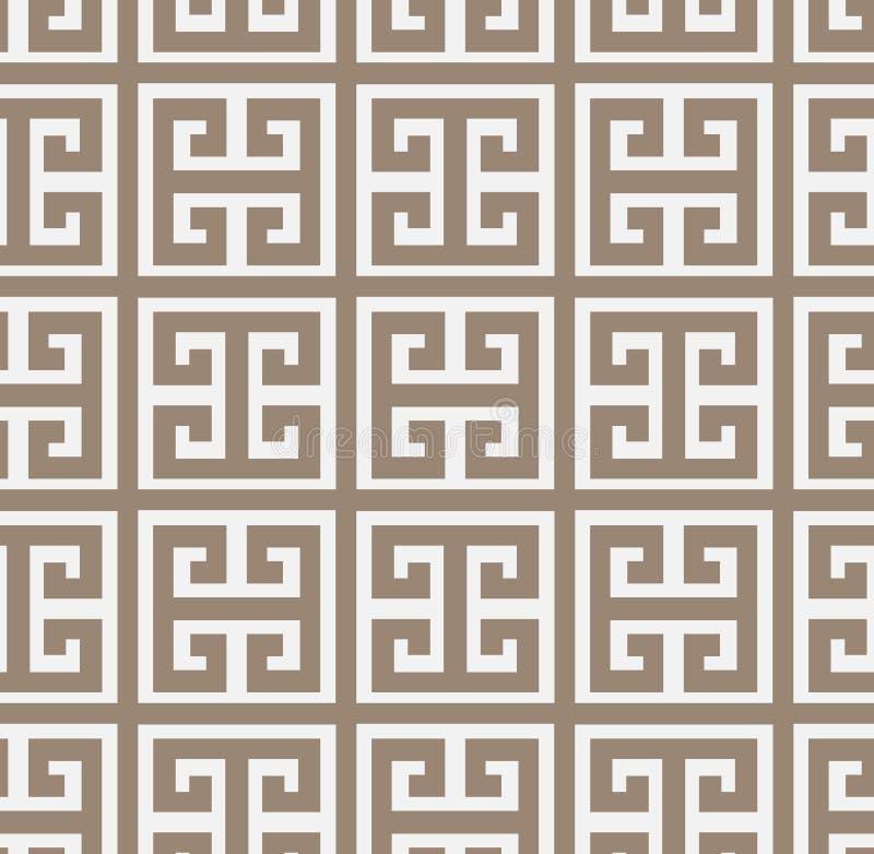 锦缎传染媒介样式希腊简单无缝典雅 库存例证