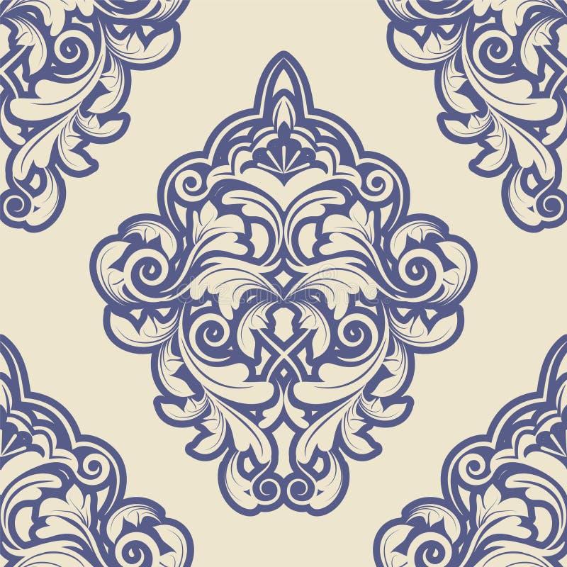 锦缎作用patterncan被重复变换墙纸 库存例证