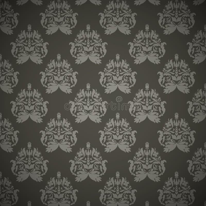 锦缎无缝的花卉模式 库存例证