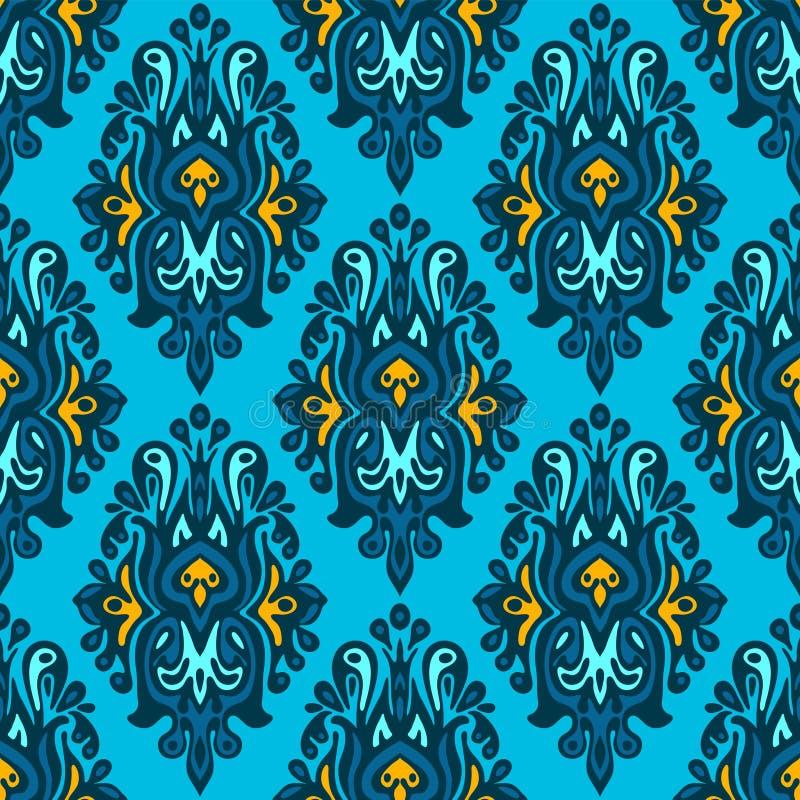 锦缎无缝的patterngift套 库存例证