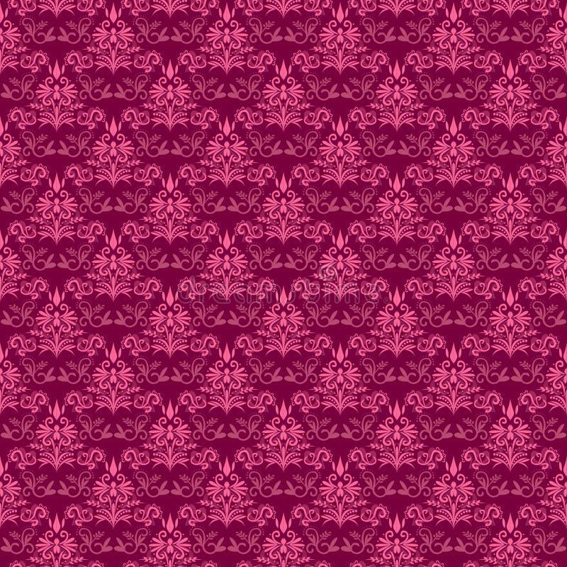 锦缎模式粉红色 库存例证