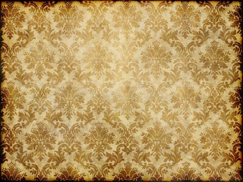 锦缎被仿造的墙纸 库存例证