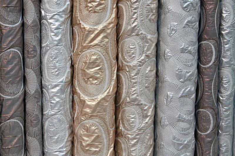 锦织品各种各样不同的螺栓  免版税库存照片
