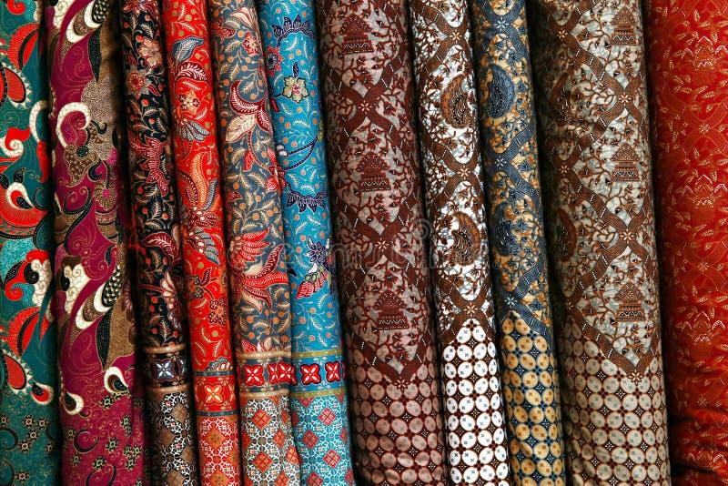 锦织品各种各样不同的螺栓  免版税库存图片