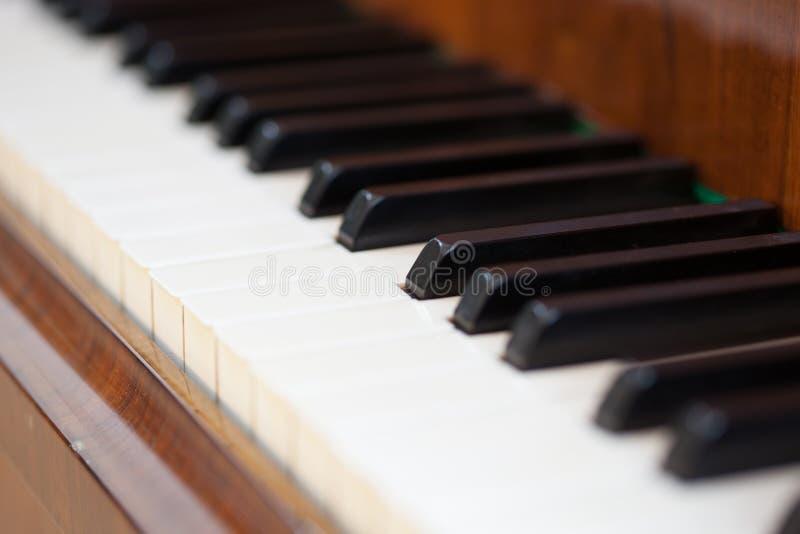 琴键的特写镜头图象 库存照片