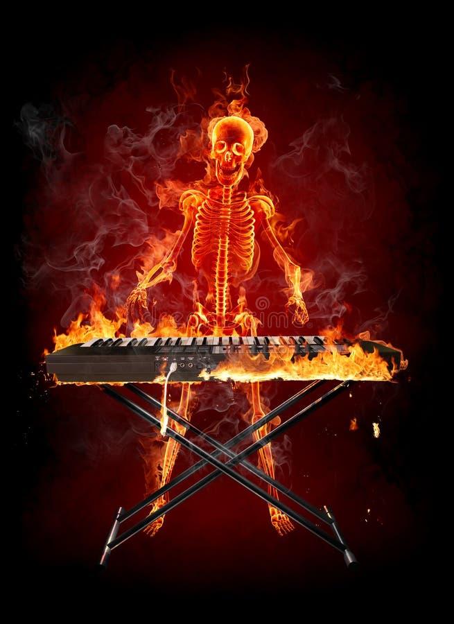 键盘乐器演奏家 向量例证