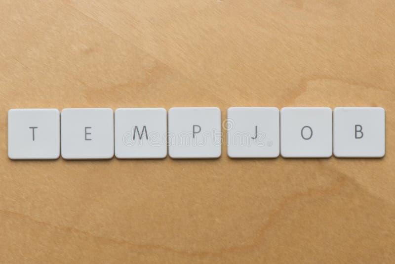 键盘信件临时雇员工作 库存图片