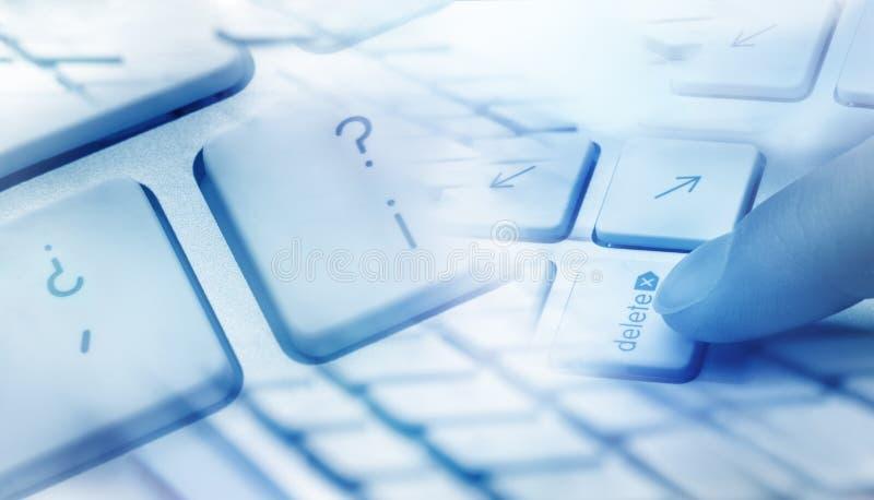 键盘删除概念 免版税库存图片
