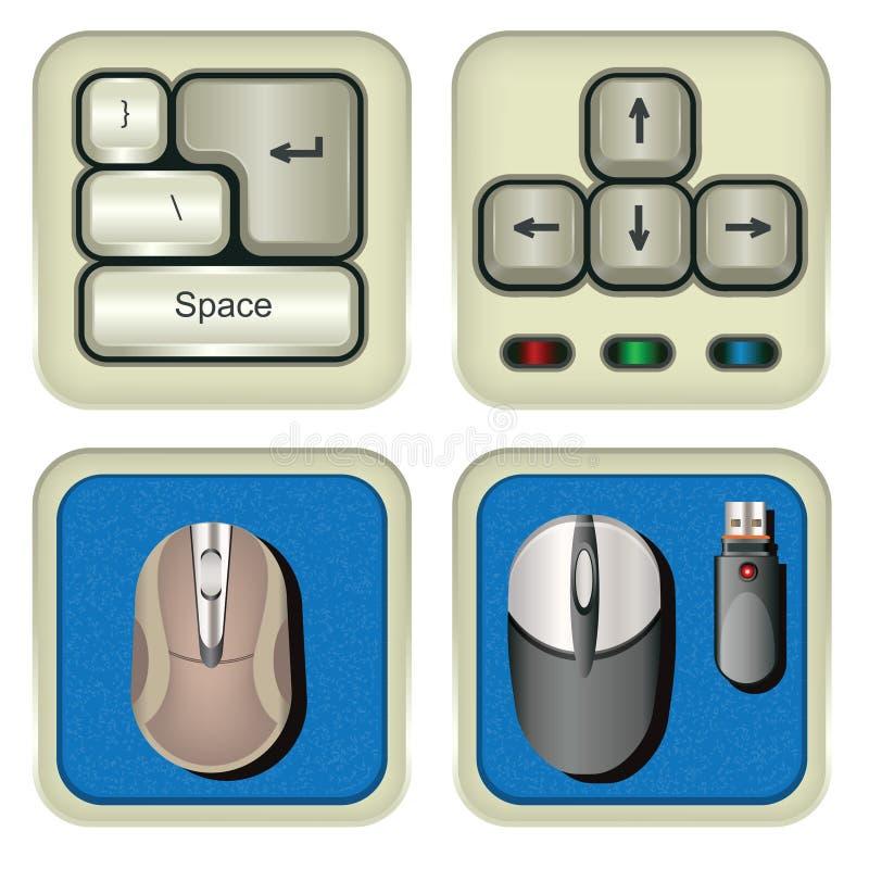 键盘和老鼠象 向量例证