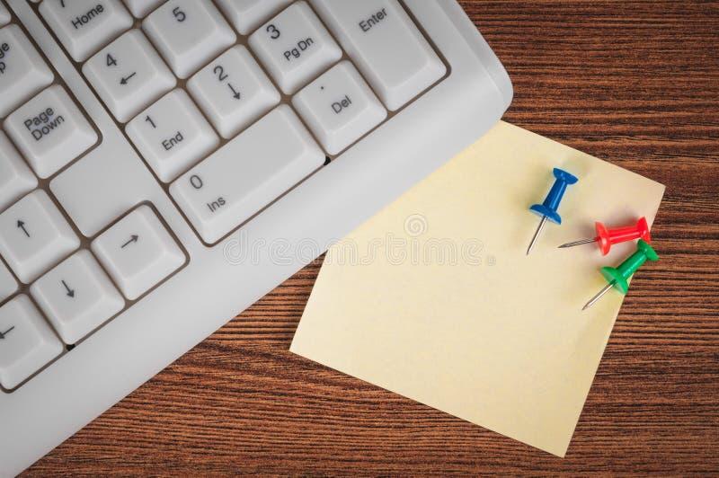 键盘和贴纸 库存图片