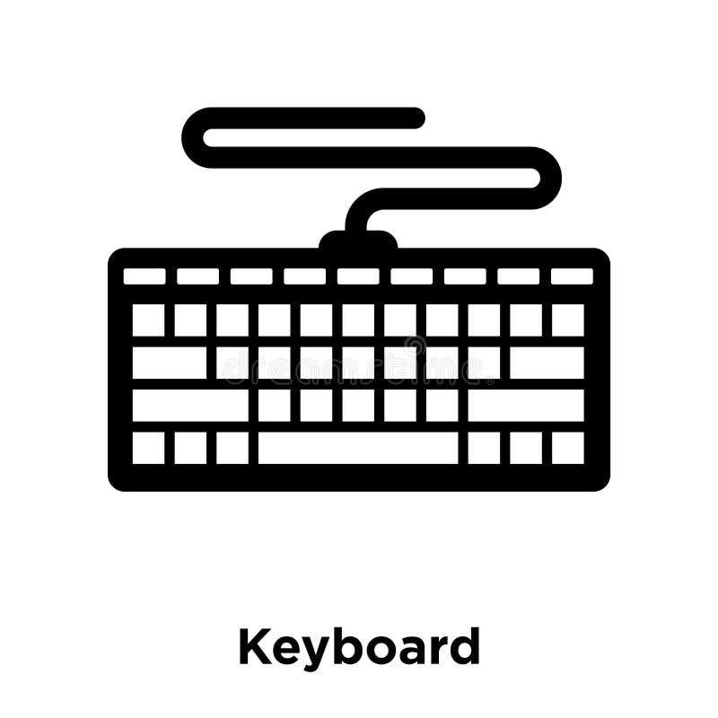 键盘在白色背景隔绝的象传染媒介,商标概念 库存例证