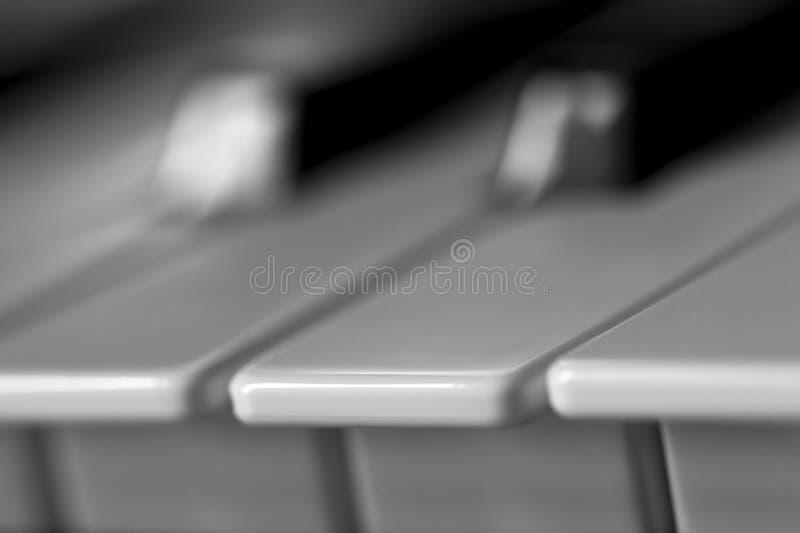 键盘摄影bllack和白色 免版税库存照片