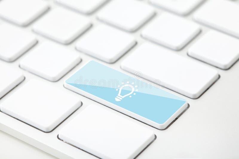 键盘概念,与选择聚焦的想法 库存例证